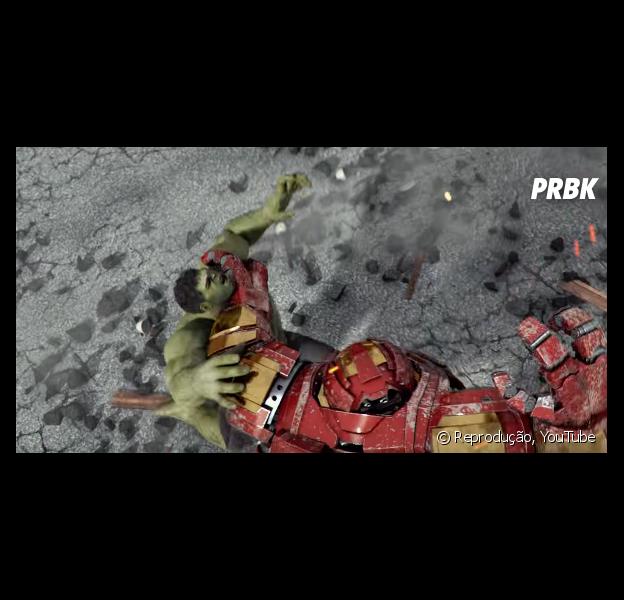 """De """"Os Vingadores"""": Hulk e Homem de Ferro se enfrentam em curta criado por fã!"""