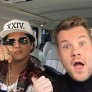 "Bruno Mars participa do ""Carpool Karaoke"", canta ""24K Magic"" e mais no ""Late Late Show"" desta terça!"
