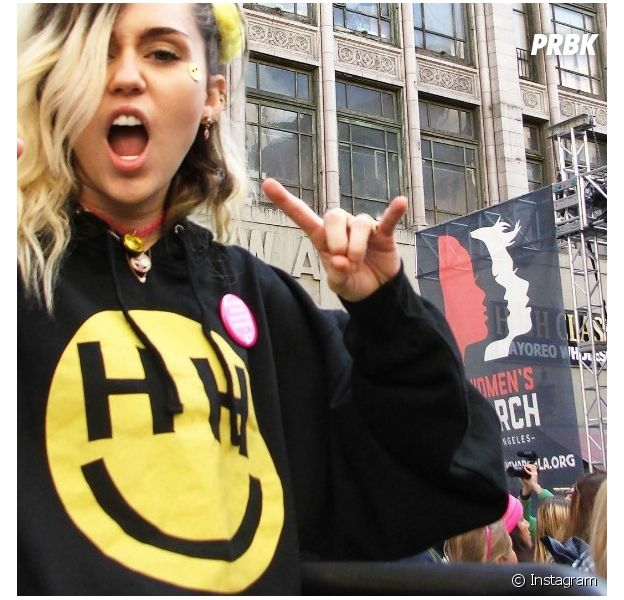 Veja Miley Cyrus e outras famosas na Women's March