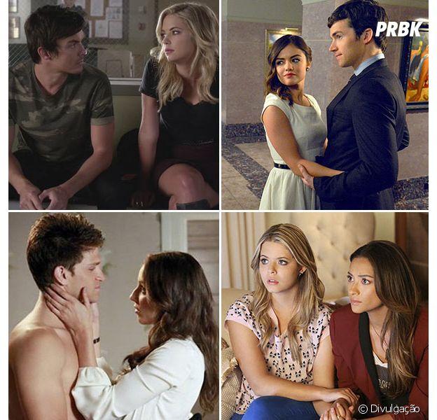 """Em """"Pretty Little Liars"""": diálogos de três casais são divulgados!"""