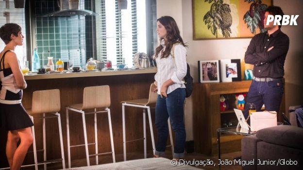 """Novela """"A Lei do Amor"""": Marina (Alice Wegmann) e Letícia (Isabella Santoni) ficam cara a a cara pela 1ª vez"""