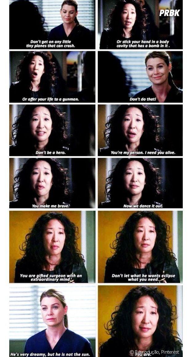 """Cristina Yang fazendo todo mundo chorar em """"Grey's Anatomy"""""""