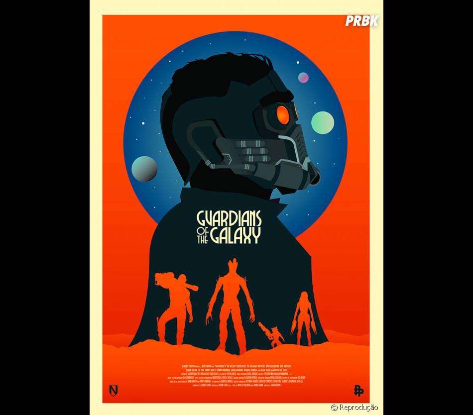 """Fã cria cartaz alternativo de """"Guardiões da Galáxia"""""""