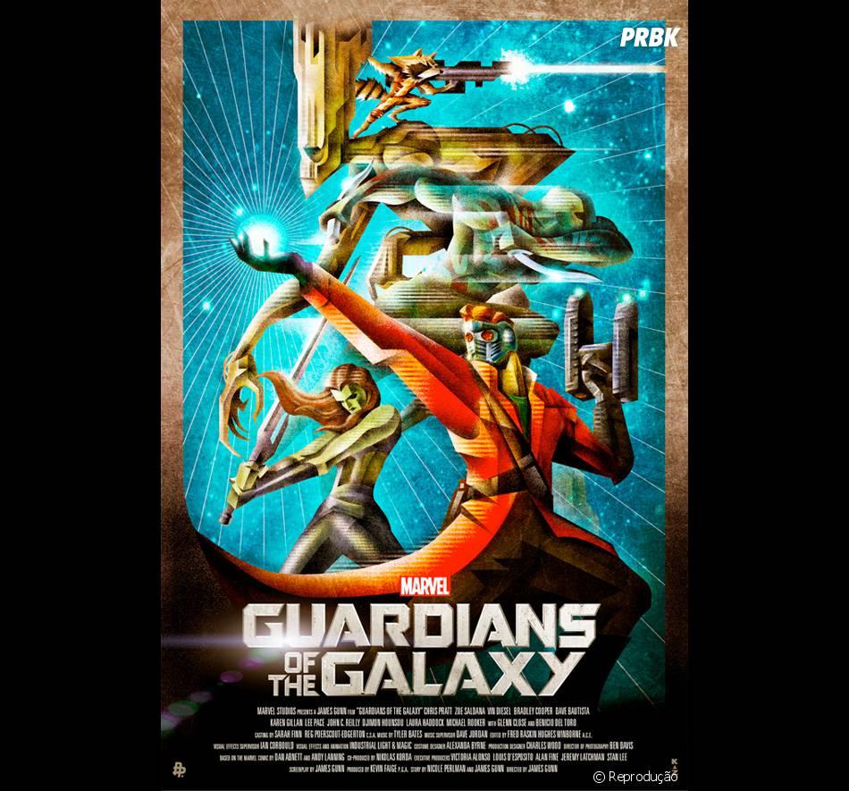 """Pôster de """"Guardiões da Galáxia"""" criado por fã"""