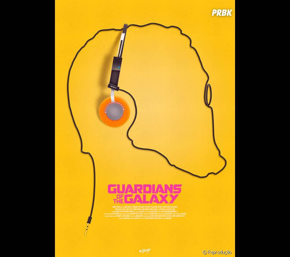 """Cartaz alternativo de """"Guardiões da Galáxia"""""""