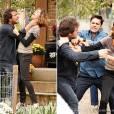 """Amora (Sophie Charlotte)provocou o ex-bad boy Fabinho (Humberto Carrão), que a atacou em""""Sangue Bom"""""""