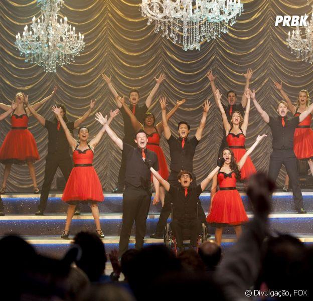 """Glee"" sempre comemora em grande estilo!"