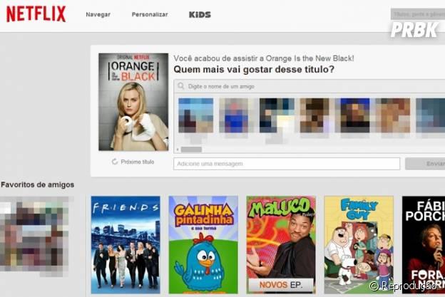 Nova interfae do Netflix com fundo branco e logo mais suave