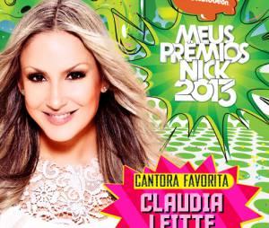 """Desbancando Anitta, Claudia Leitte foi escolhida pelo público como a Cantora Favoritano """"Meus Prêmios Nick 2013"""""""