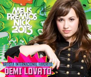 "Demi Lovato foi a Artista Internacional Favorita do ""Meus Prêmios Nick 2013"""