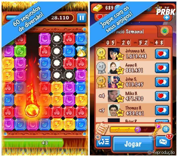 """""""Diamond Dash"""" é o jogo desenvolvido pela Wooga"""
