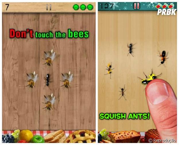 "Destrua formigas no jogo ""Esmague Formigas"""