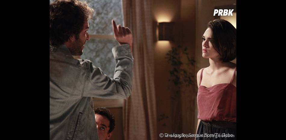 """Fabinho (Humberto Carrão) ficou chateado com Giane (Isabelle Drummond) por ter escondido coisas dele em """"Sangue Bom"""""""