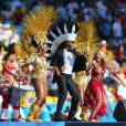 Shakira, Carlinhos Brown e o Olodum cantaram na final da Copa do Brasil