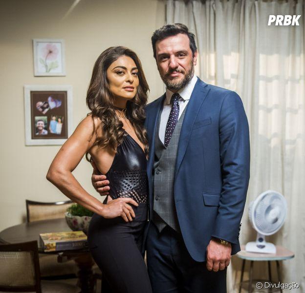 """Em """"A Força do Querer"""": Bibi (Juliana Paes) e Caio (Rodrigo Lombardi) ficarão juntos no final da novela, de acordo com jornal"""
