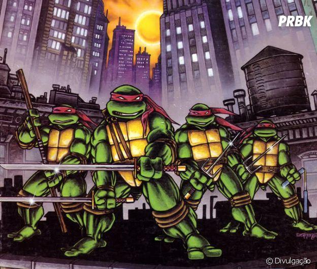 As Tartarugas Ninjas gostam de pizza