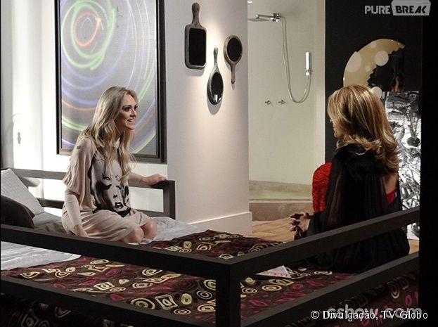 """Em """"Geração Brasil"""", Megan (Isabelle Drummond) fica radiante ao saber que vai viajar com Davi (Humberto Carrão)"""
