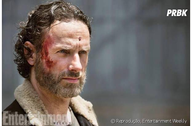 "Rick (Andrew Lincoln) sempre aparece machucado em ""The Walking Dead"""