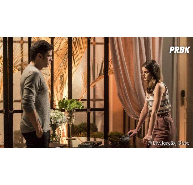"""Em """"Pega Pega"""", Luiza (Camila Queiroz) e Eric (Mateus Solano) passam por crise no casamento"""