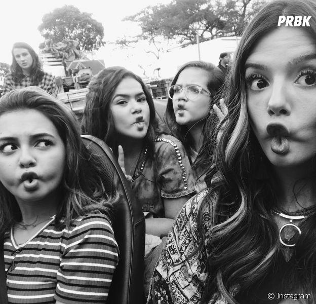 """Maisa Silva se diverte com Mel Maia, Klara Castanho e Giovanna Lancellotti nos basitidores do filme """"Tupo Por um Popstar"""""""
