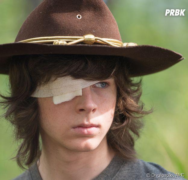 """De """"The Walking Dead"""": personagem Carl (Chandler Riggs) pode deixar a série, de acordo com pai do ator"""