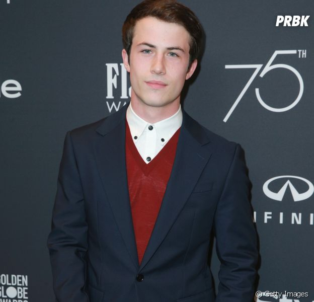 """Dylan Minnette, o Clay de """"13 Reasons Why"""", posa para fotógrafos no eventoHollywood Foreign Press Association and InStyle's Celebration of the 2018 Golden Globe Awards"""
