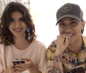 Giovanna Grigio e Christian Figueiredo veem se seriam bons namorados em brincadeira!