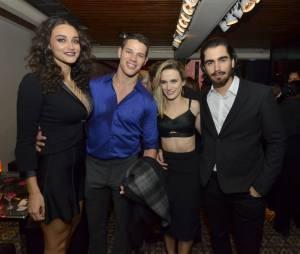 "Débora Nascimento, José Loretto, Bianca Bin e marido na festa de ""Boogie Oogie"""