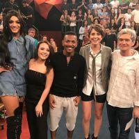 """Larissa Manoela participa do """"Altas Horas"""", da Globo, com Pabllo Vittar, Nego do Borel e mais!"""