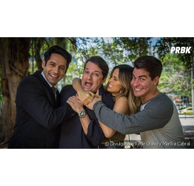 """Em """"Pega Pega"""", Julio (Thiago Martins) e companhia param na cadeia no final da novela"""
