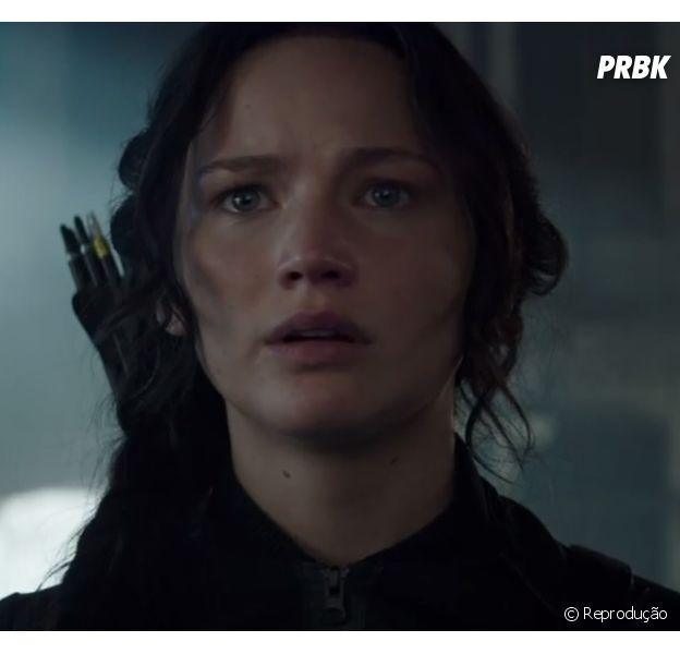 """Jennifer Lawrence é a protagonista da franquia """"Jogos Vorazes"""""""
