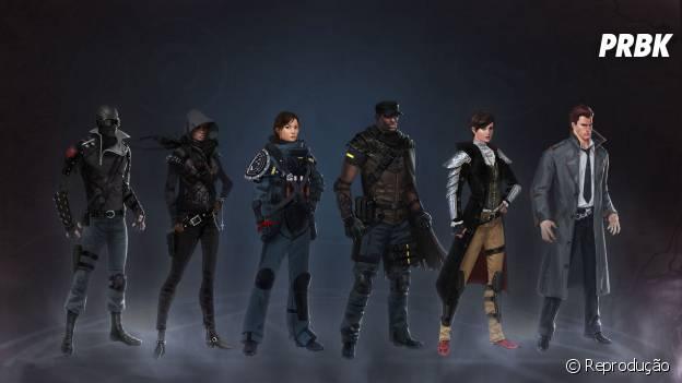 """As classes dos personagens de """"Shadow Realms"""""""