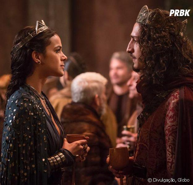 """Em """"Deus Salve o Rei"""", Catarina (Bruna Marquezine) dará golpe da barriga em Rodolfo (Johnny Massaro)"""