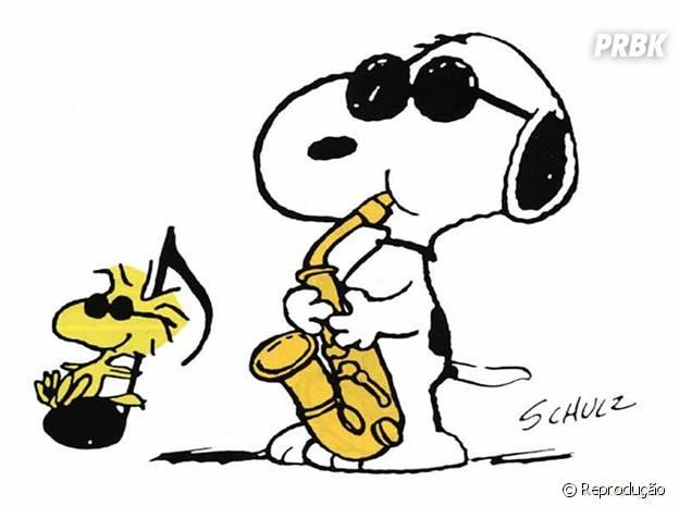 Snoopy e seu pássaro de estimação