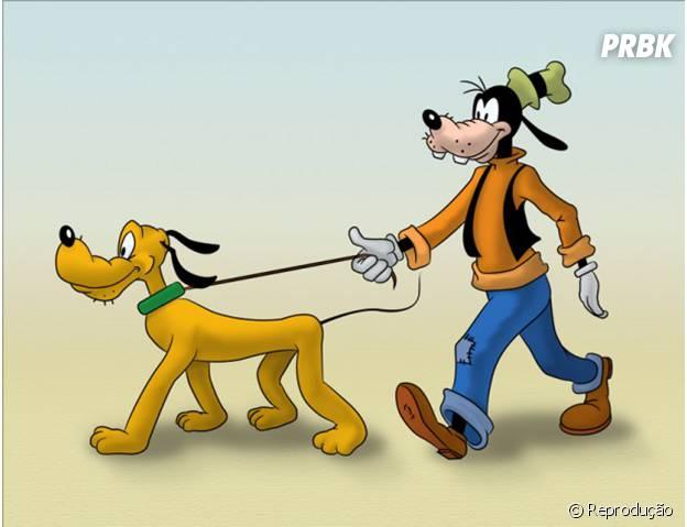 Pateta e Pluto, os dois cachorros da Disney