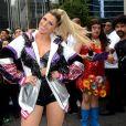 A apresentadora Lívia Andrade animou a  22ª Parada do Orgulho LGBT