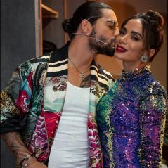 "Anitta e Maluma gravam ""La Voz México"" juntos e despistam rumores de briga"