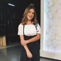 Maisa Silva grava seu novo programa no SBT e chama a atenção da emissora