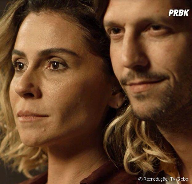 """Novela """"Segundo Sol"""": Remy (Vladimir Brichta) se junta à Laureta (Adriana Esteves) e Karola (Deborah Secco) para acabar com Luzia (Giovanna Antonelli)"""