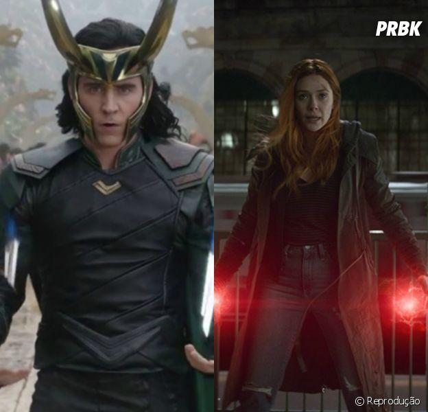 Loki (Tom Hiddleston) e Feiticeira Escarlate (Elizabeth Olsen) podem ganhar suas próprias série na Disney