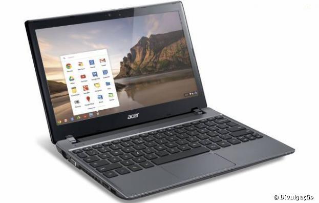 Acer C7, primeiro Chromebook do Brasil,preço sugerido de R$ 1,3 mil