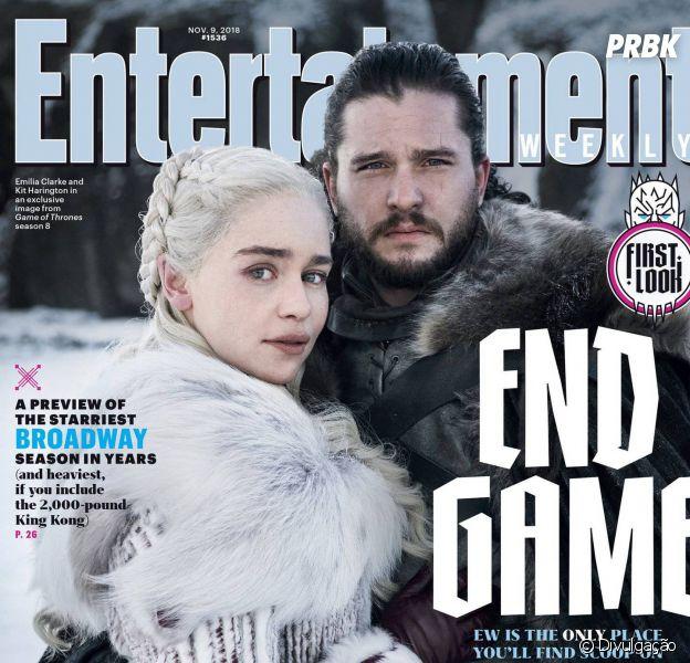 """De """"Game of Thrones"""": Jon Snow (Kit Harington) e Daenerys (Emilia Clarke) aparecem na primeira foto oficial da oitava temporada!"""