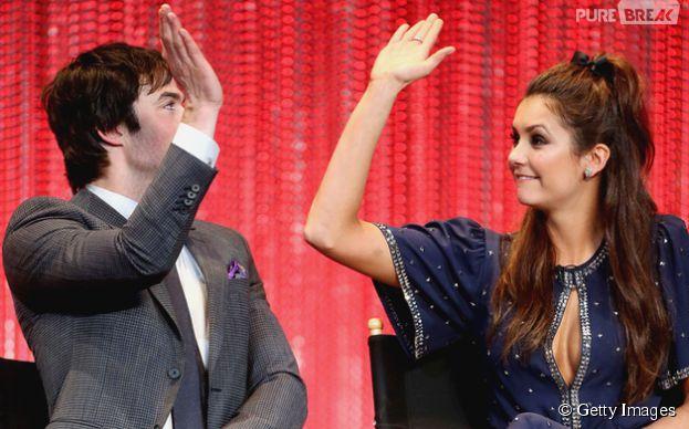 """Nina Dobrev e Ian Somerhalder são os intérpretes de Elena e Damon, na série """"The Vampire Diaries"""""""