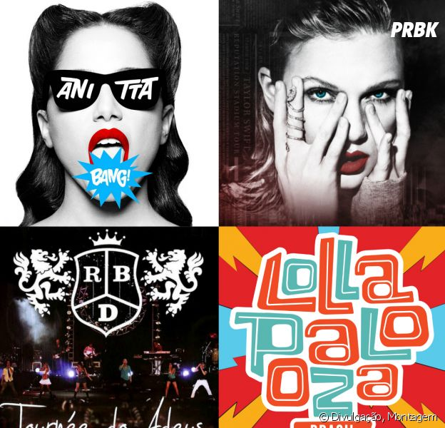 Anitta, Taylor Swift, RBD, Lollapalooza e o show que combina com cada signo!