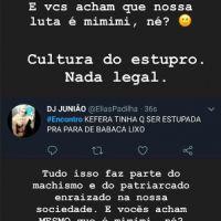 """Kéfera foi ameaçada após discutir com um machista no """"Encontro com Fátima Bernardes"""""""