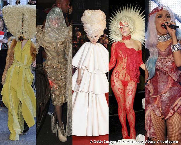 Relembre alguns looks bizarros que Lady Gaga já usou ao longo de sua carreira