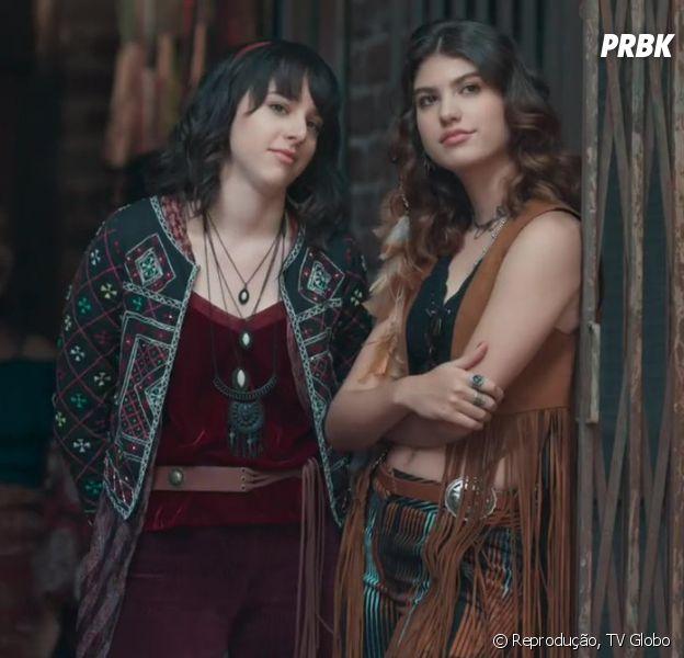 """Já faz um ano do beijo entre Samantha (Giovanna Grigio) e Lica (Manoela Aliperti) em """"Malhação"""""""