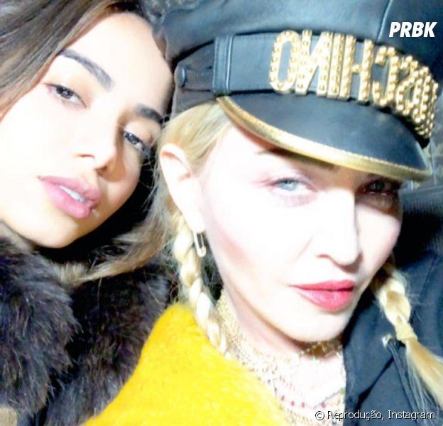 Anitta revela qual foi sua reação ao encontrar com Madonna pela primeira vez