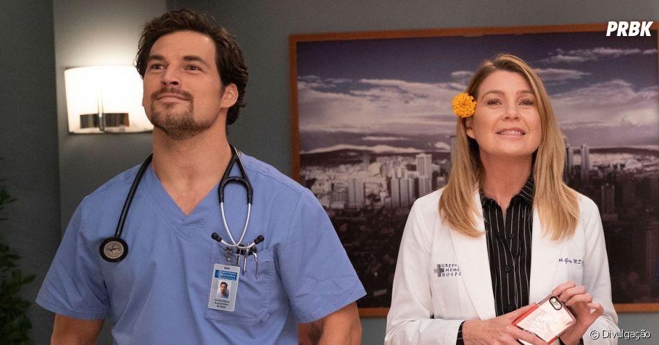 """De """"Grey's Anatomy"""": Meredith (Ellen Pompeo) com DeLuca (Giacomo Gianniotti) pode se tornar mais real do que nunca"""