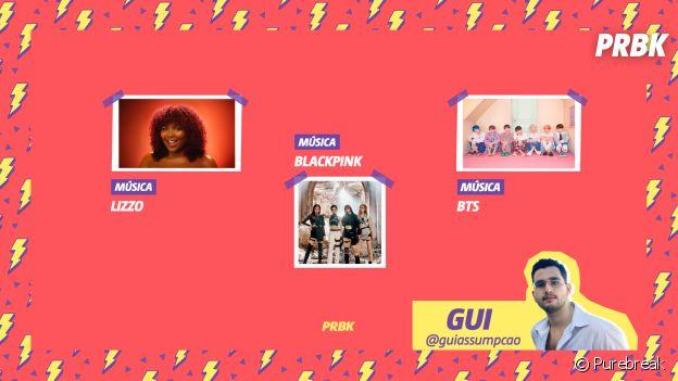 Viciei do Purebreak: Gui indica Lizzo, BTS e BLACKPINK